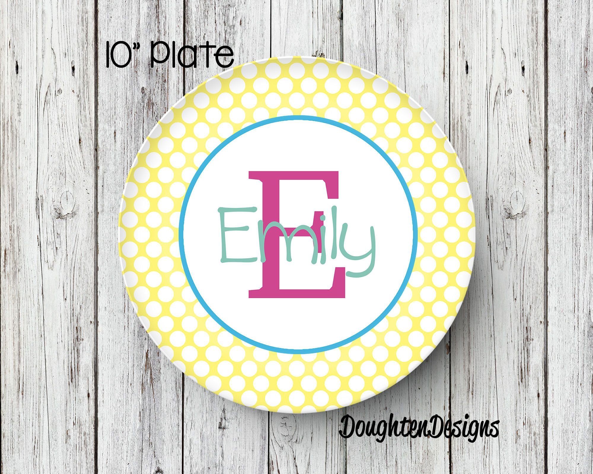 Personalized Melamine Plates Kids & Easter Plate ...