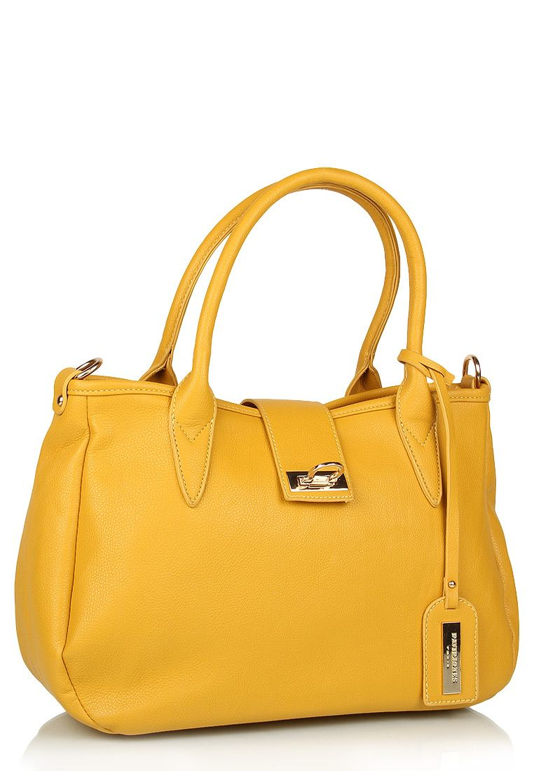 David Jones Yellow Handbag