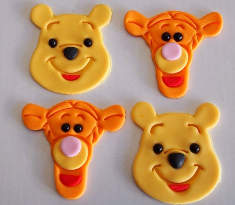 12 X Winnie The Pooh Bear Tigger Cupcake Toppers EDIBLE 1st BIRTHDAY CAKE 1250 850 Post From Australia