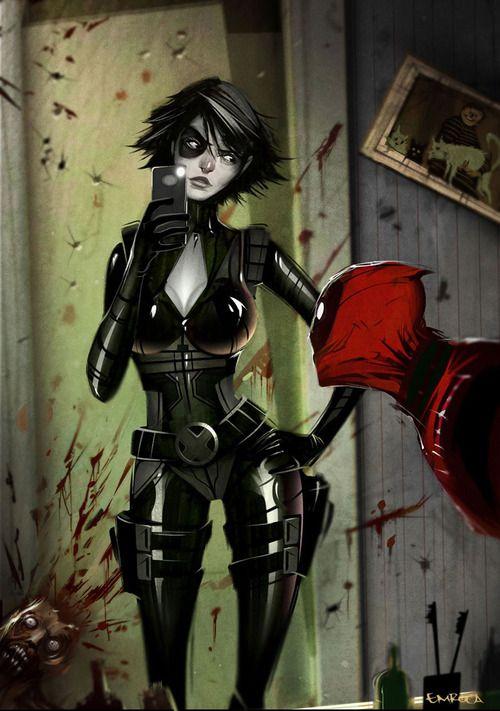 Domino and Deadpool Concept Art - Deadpool (PS3/Xbox 360/Windows)