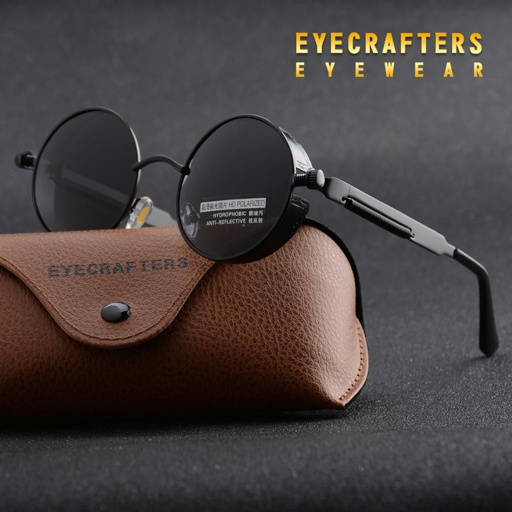 Sunglasses For Men Polarized,Women Men Vintage Retro Glasses Unisex Fashion Circle Frame Sunglasses Eyewear