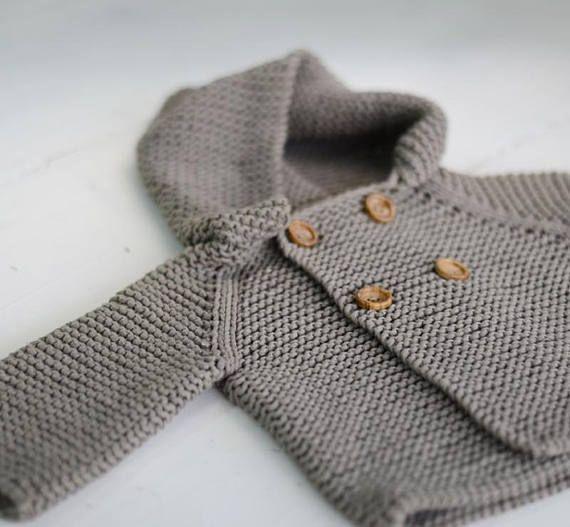 Baby Sweater Knitting Pattern Jumper Basic Baby Cardigan Toddler