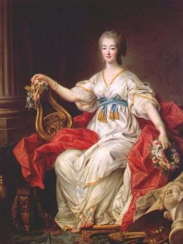 Madame du barry as muse 1771 by drouais her costume was decorously painted over the original - Chambre de commerce versailles ...