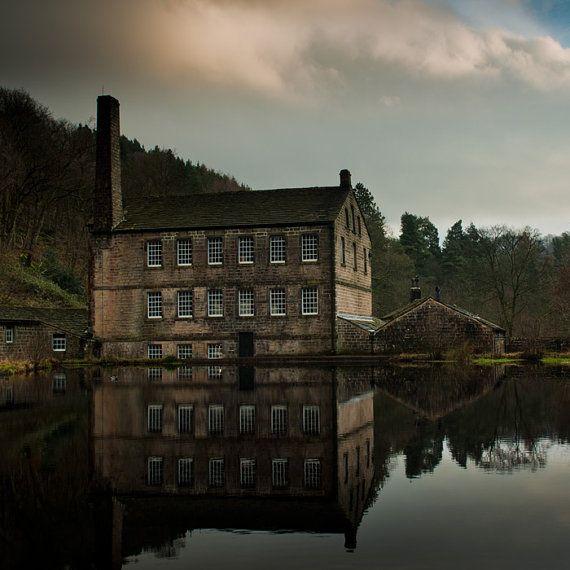 Garden Landscaping In Halifax Huddersfield West: Industrial Revolution English Textile Mill By