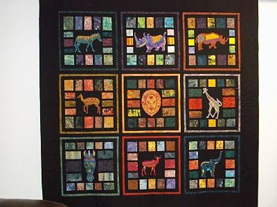 Laurie's random musings: Seattle Streets Gallery; Wall hanging to go with african cloth quilt