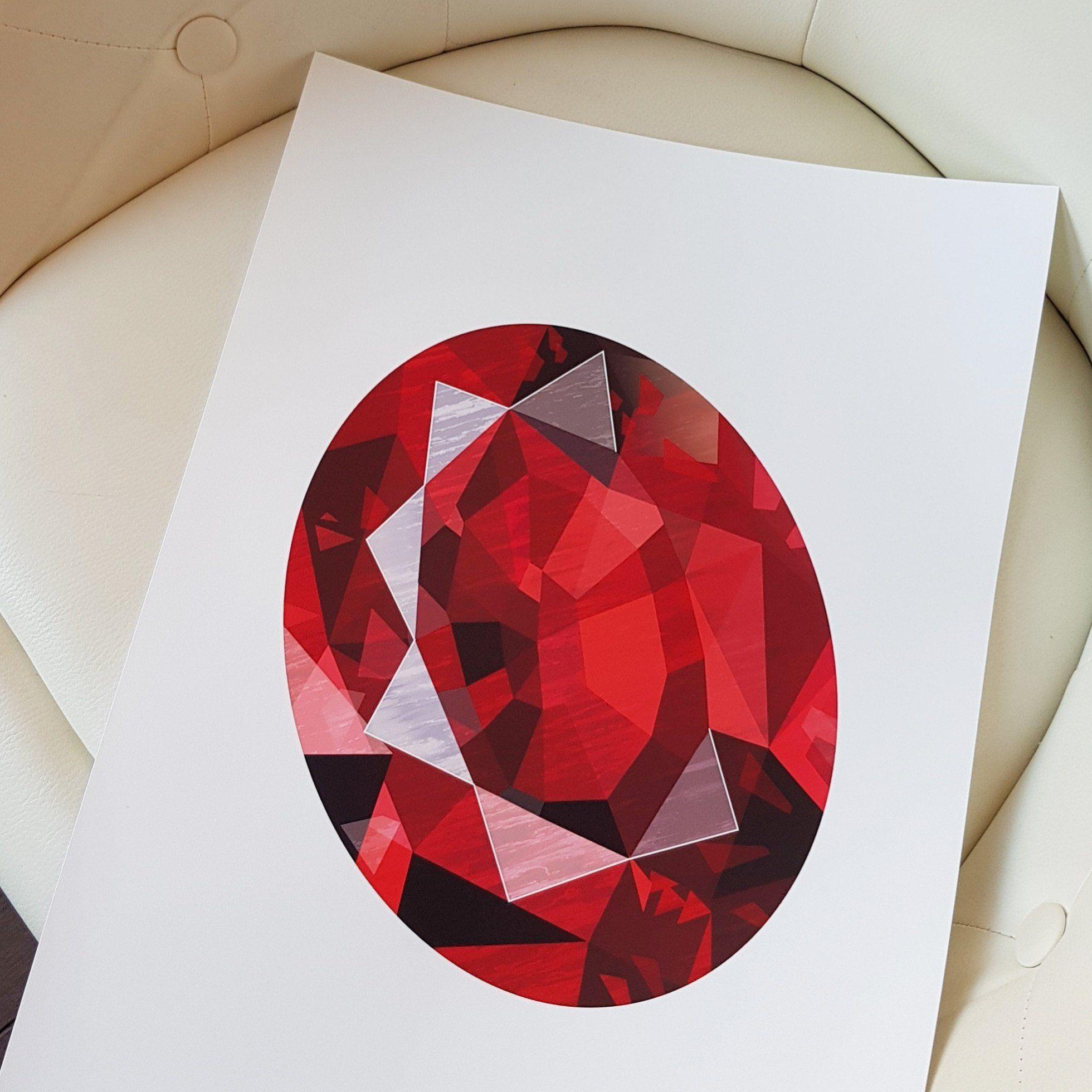 An Original Birthday Gift Shipped Today A Ruby Gemstone July Birthstone