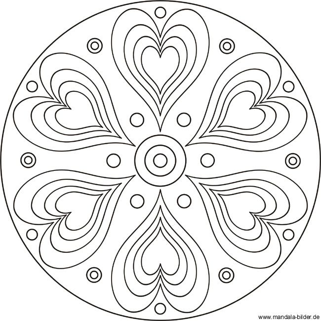 Heart Coloring Pages Mandala Coloring Books Abc Coloring Pages