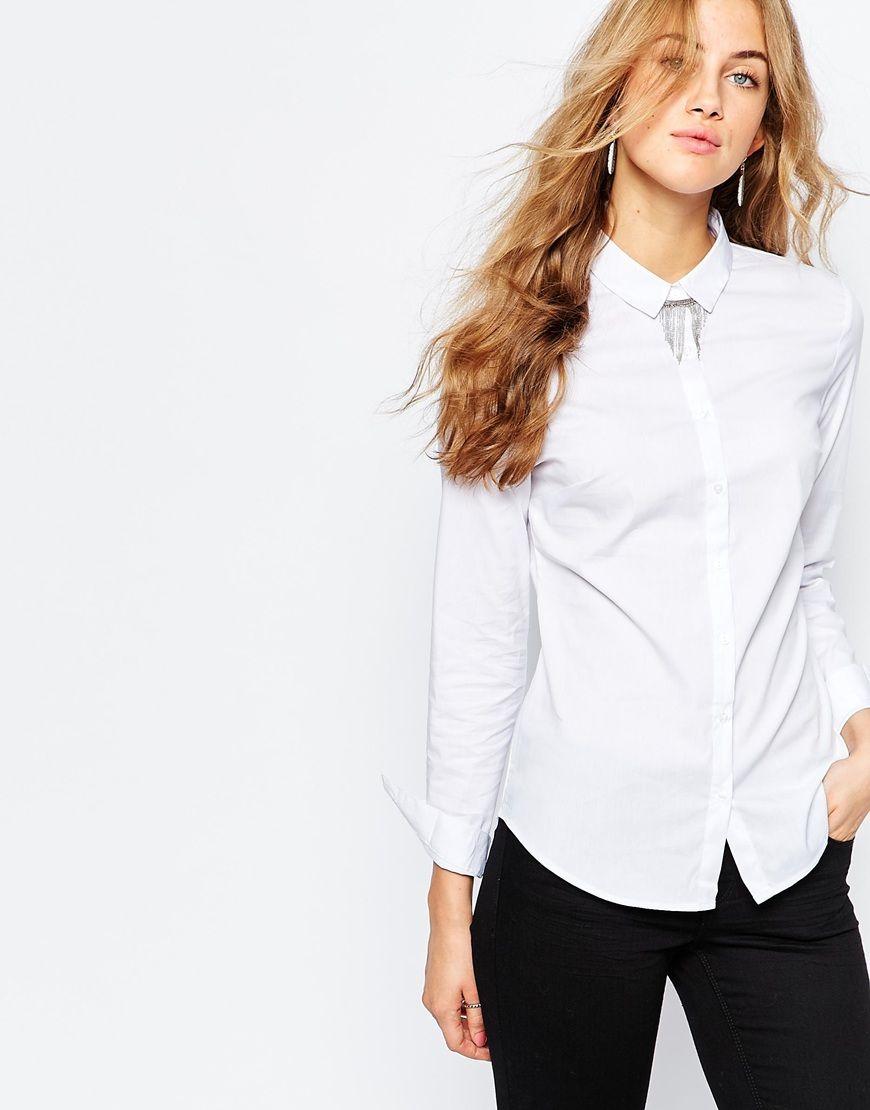 1ccca72617936 Image 1 of Pimkie Clean White Shirt   Wishlist.   Pinterest   Pimkie ...