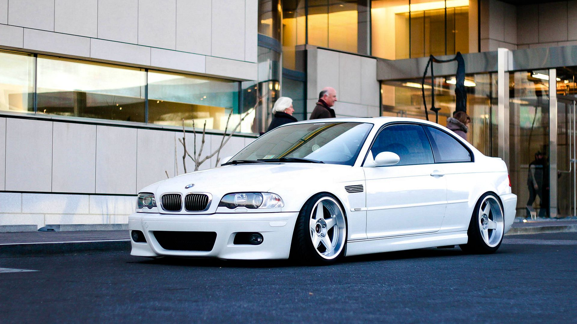 Bmw M3 E46 All White Stanced Low Lifestyle Clean Car 300hp