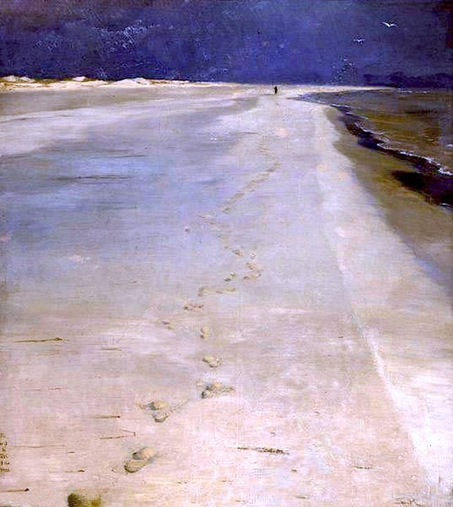 Peder Severin Kroyer Оn the south Beach of Skagen
