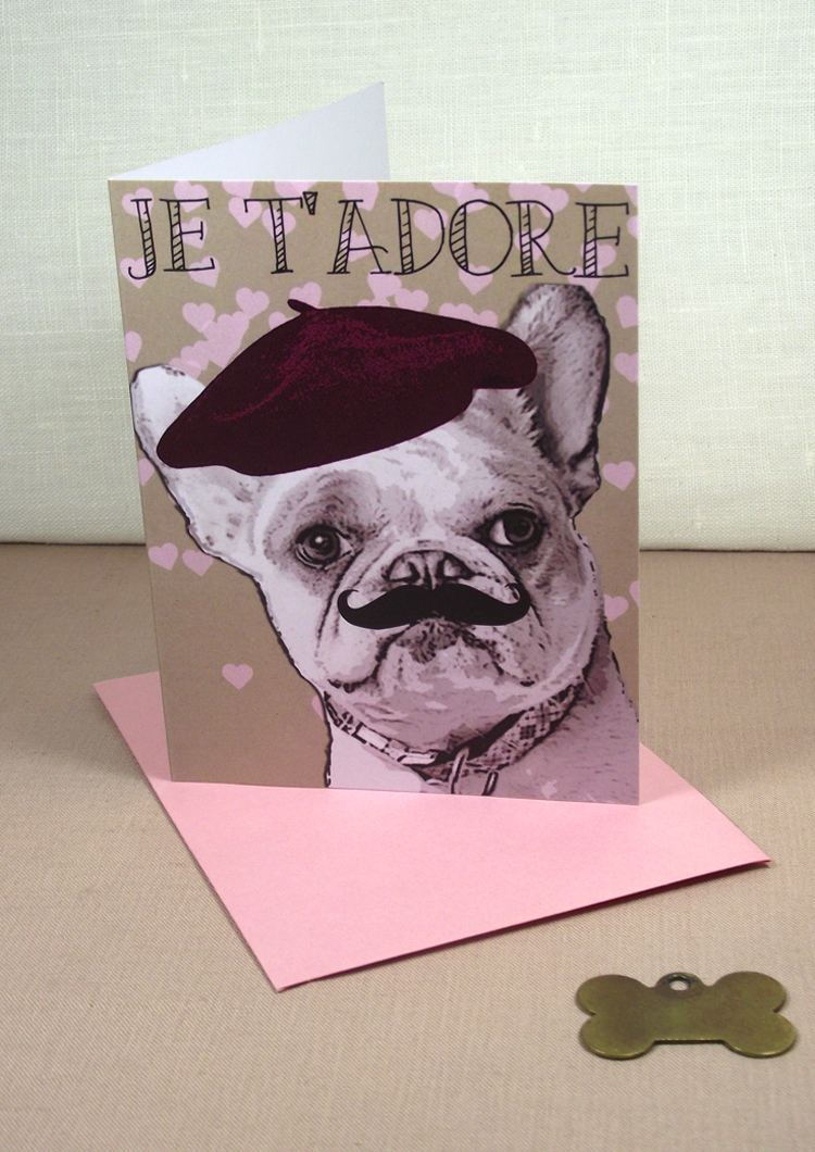 Je T' Adore - Custom cards, by Sent-Well #french bulldog #frenchie
