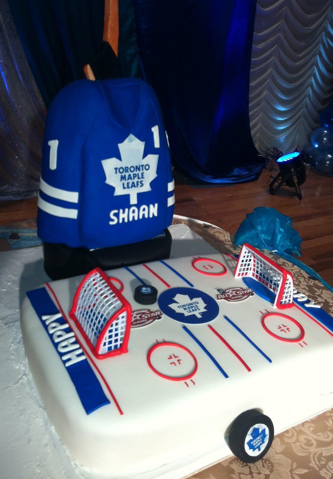 Hockey Maple Leafs Jersey Cake Hockey Rink Cake 3d