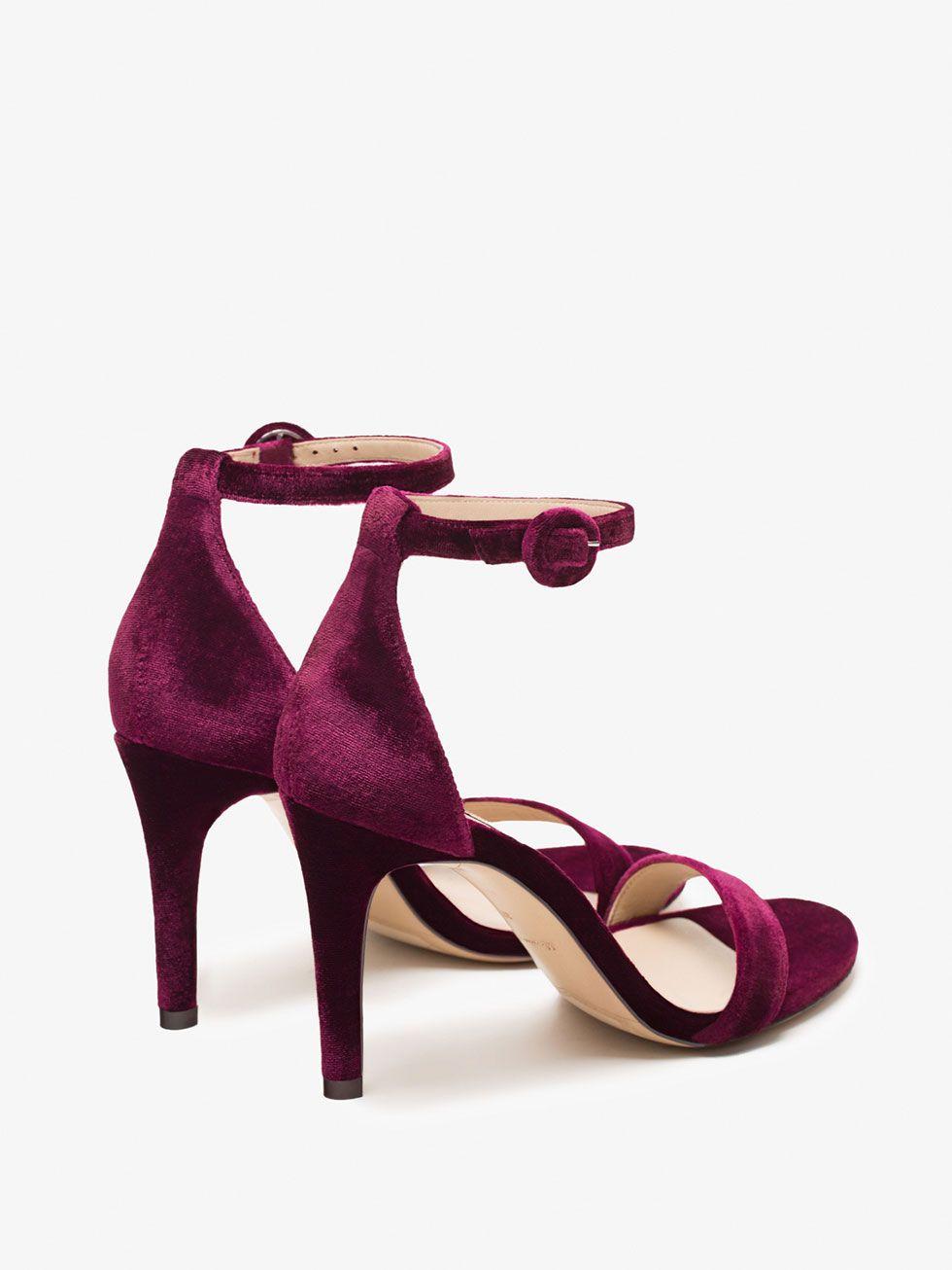 Sandalia Ver Mujer Todo Burdeos Zapatos Terciopelo De Massimo 2IEeD9YbWH