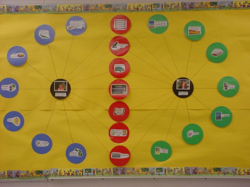 Double Bubble Thinking Map Put Co Teachers Pictures In