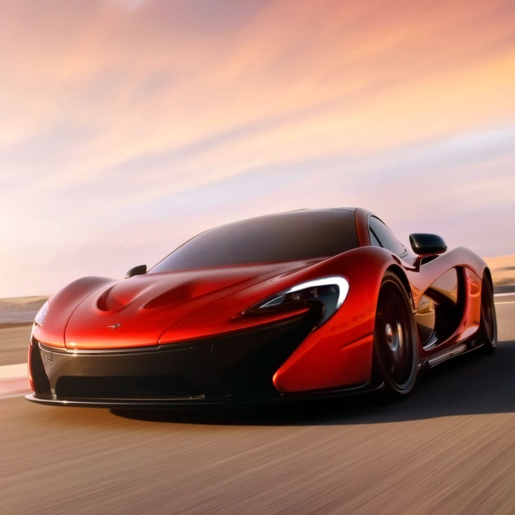 Red Mclaren P1 #iPad #Wallpaper