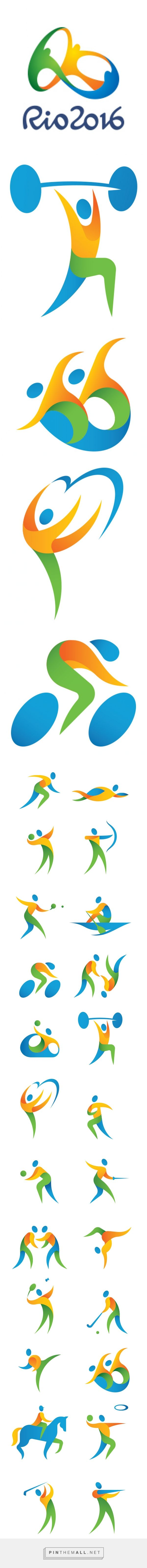Olympic rings logo rio 2016 olympics logo designed by fred gelli - 2016 Rio Olympic Pictograms On Behance Https Www Behance Net