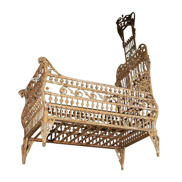 victorian baby cradle Rare Victorian Stick and Ball