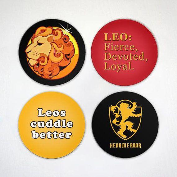 Leo Magnet Zodiac Sign Magnet Hear Me Roar 2.6 Inch | Etsy