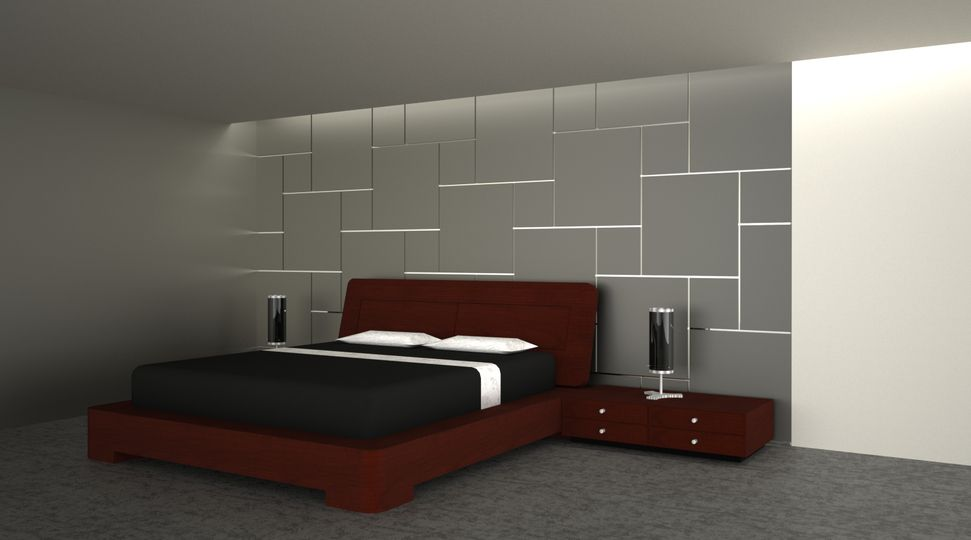 Images of squares painted on walls wall to fit you for Feature wall interior design