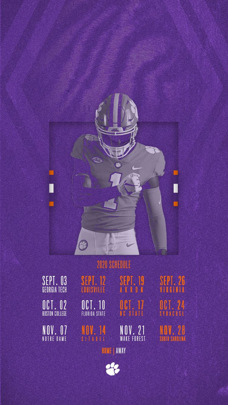Clemson Announces 2020 Football Schedule in 2020 Clemson