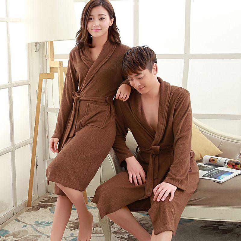 On Sale Men s Suck Sweat Long Towel Bathrobe Summer Kimono Terry Bath Robe  Mens Dressing Gown 24734ed94