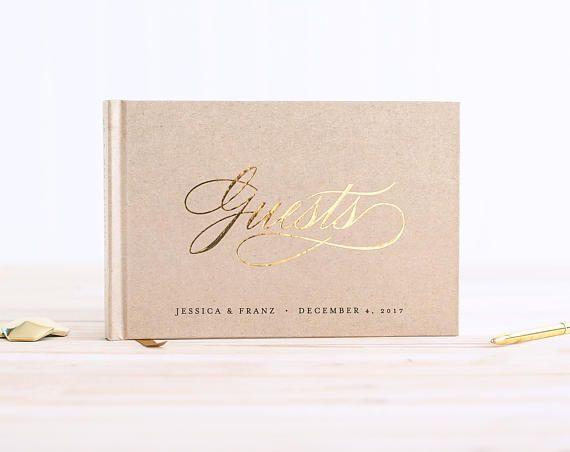 Wedding Guest Book Landscape Horizontal Wedding Guestbook Etsy Wedding Guest Book Unique Guest Book Wedding Book