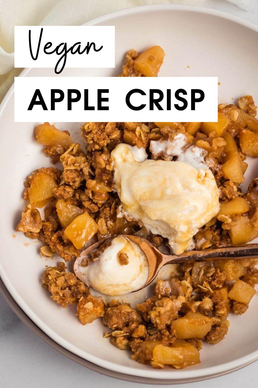 Mouth Watering Vegan Apple Crisp Karissa S Vegan Kitchen Recipe In 2020 Vegan Apple Crisp Apple Crisp Vegan Kitchen
