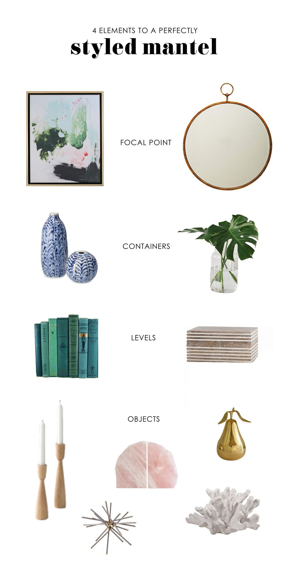 Great 4 Elements To A Perfectly Styled Mantel    Studio McGee