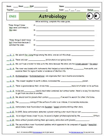 Starmaterials Free Bill Nye Video Worksheets And Free Bill Nye