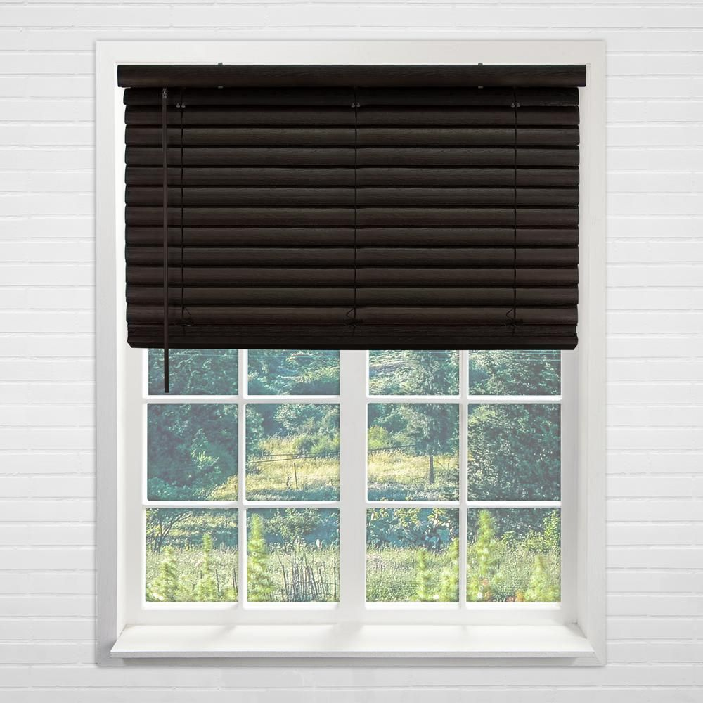 Chicology Cordless Room Darkening 2 In Vinyl Mini Blind Perfect For Kitchen Bedroom Office More Dark Walnut 48 W X 64 L Vnbdw4864 Vinyl Mini Blinds Vinyl Blinds Mini Blinds