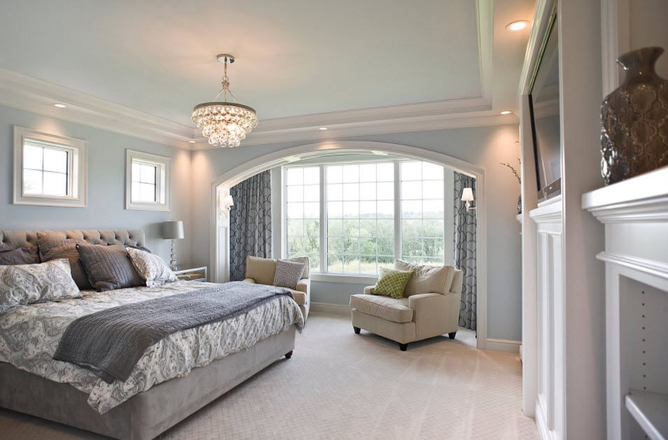 Schlafzimmer in grau eine Vielzahl von Schattierungen und