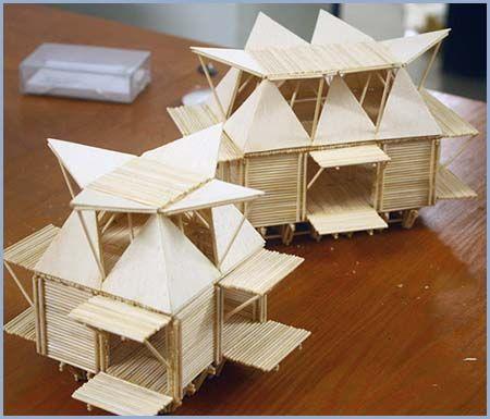 Casas De Bambú Flotantes Casa Flotante Arquitectura
