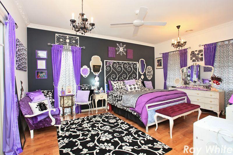 black and purple bedroom   Cute bedroom ideas, Girls ...
