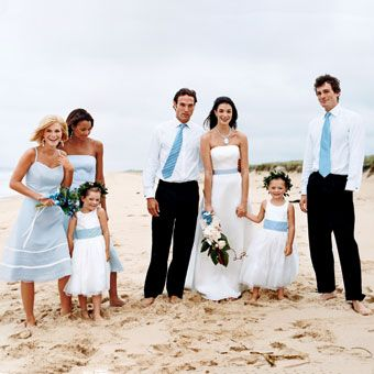 Color Coordinated Wedding Party Style