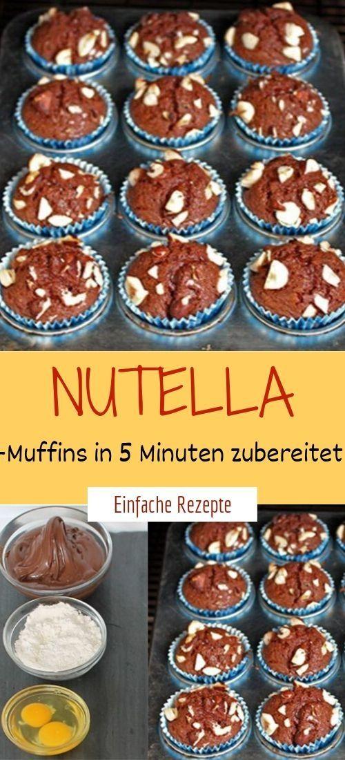 Nutella-Muffins in 5 Minuten zubereitet  #schokokuchen