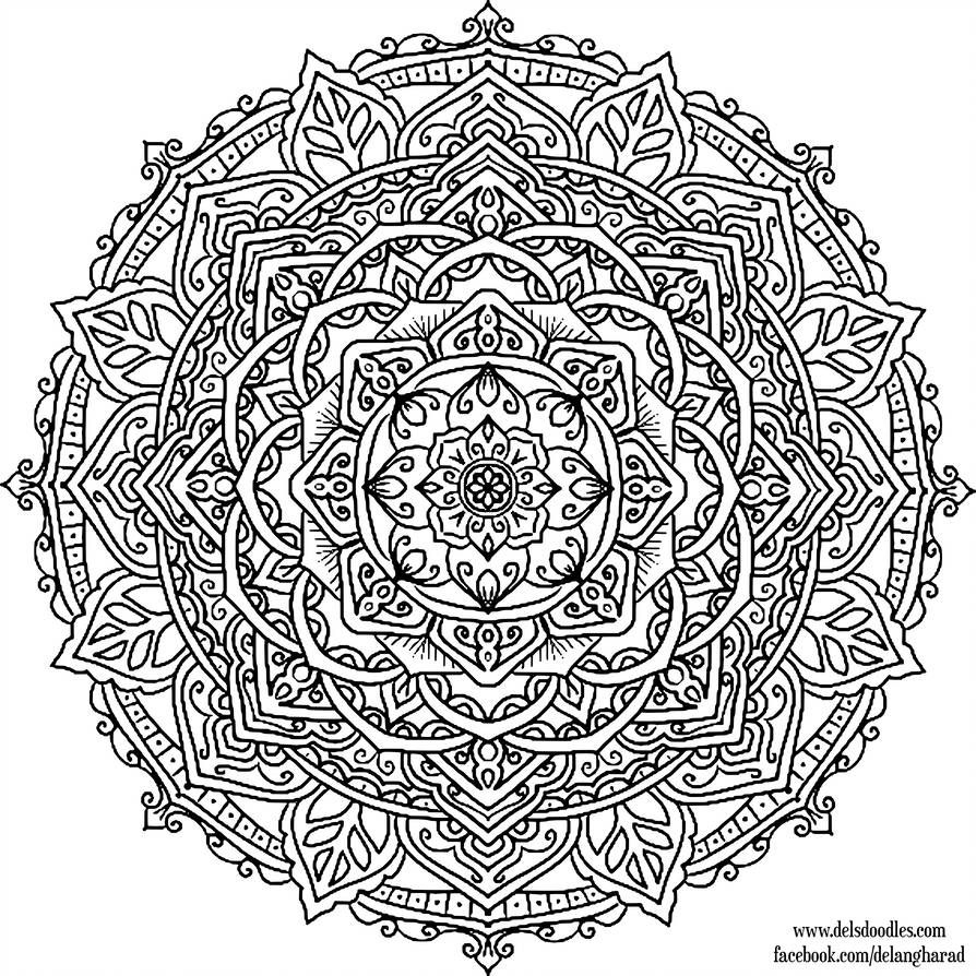 Krita Mandala 46 Welshpixie Mandala Krita Mandala Drawing