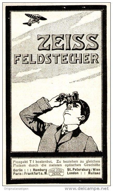 Original-Werbung/ Anzeige 1911 - ZEISS FELDSTECHER - ca. 60 x 110 mm