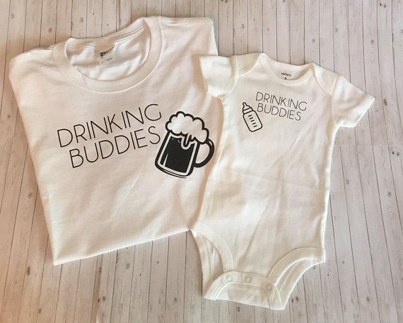 Dad And Son Outfit Set Father Outfits Fathers Day Gift Birthday Drinki