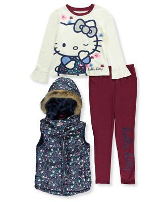 f381f5b78 Pants 51568: Hello Kitty Big Girls 3-Piece Outfit (Sizes 7 - 16 ...