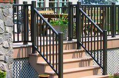 Outdoor Stair Rail | Stair Railings, Railing Dynamics Stair Railing,  Aluminum Stair .