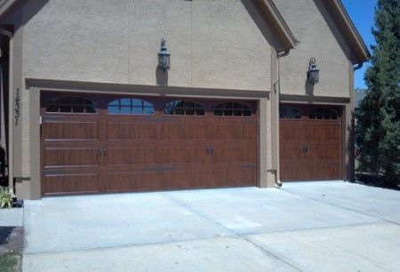 Clopay gallery collection garage doors single double wood for Clopay steel garage doors