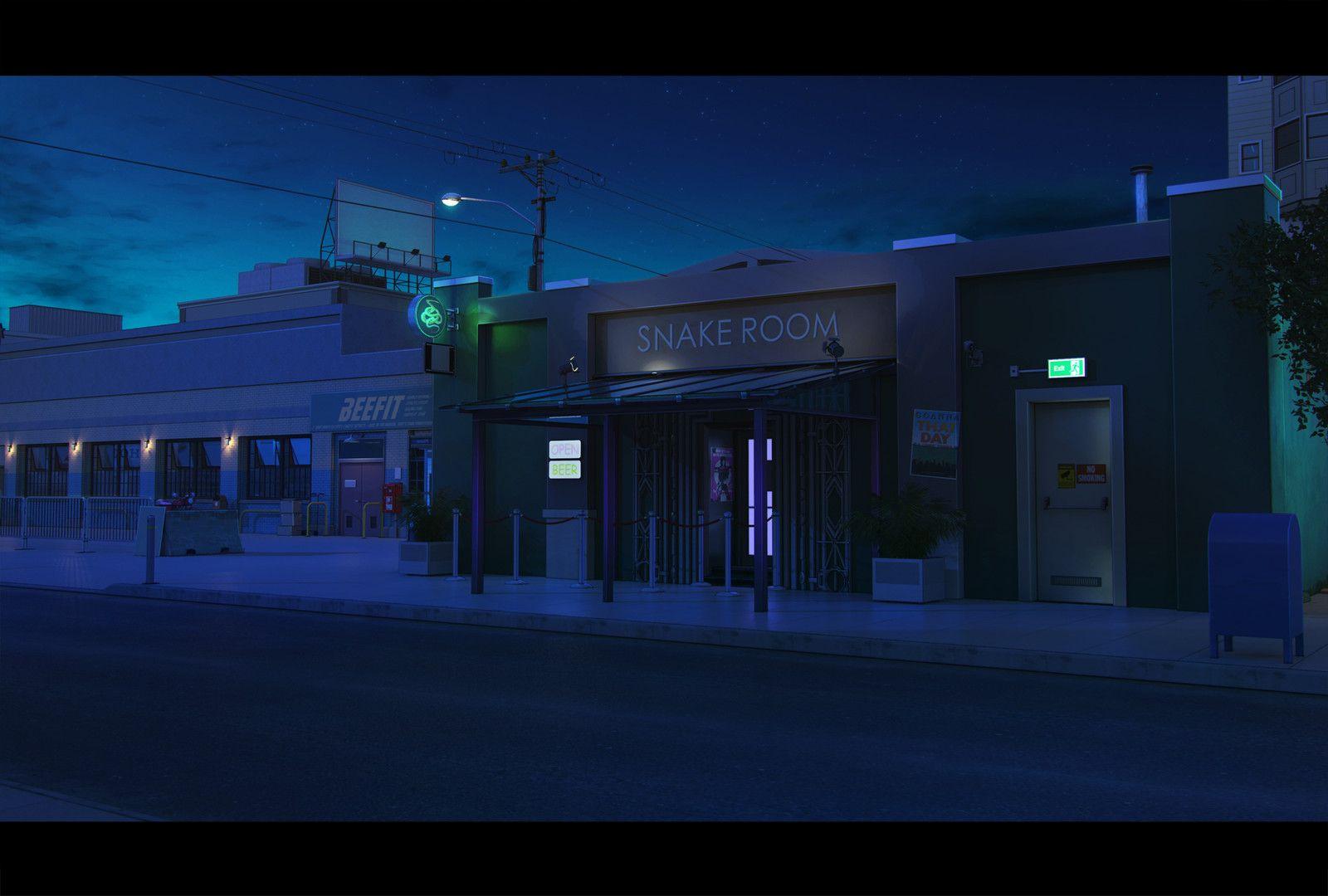 """SnakeRoom"" Entrance, Goliat Gashi on ArtStation at https"