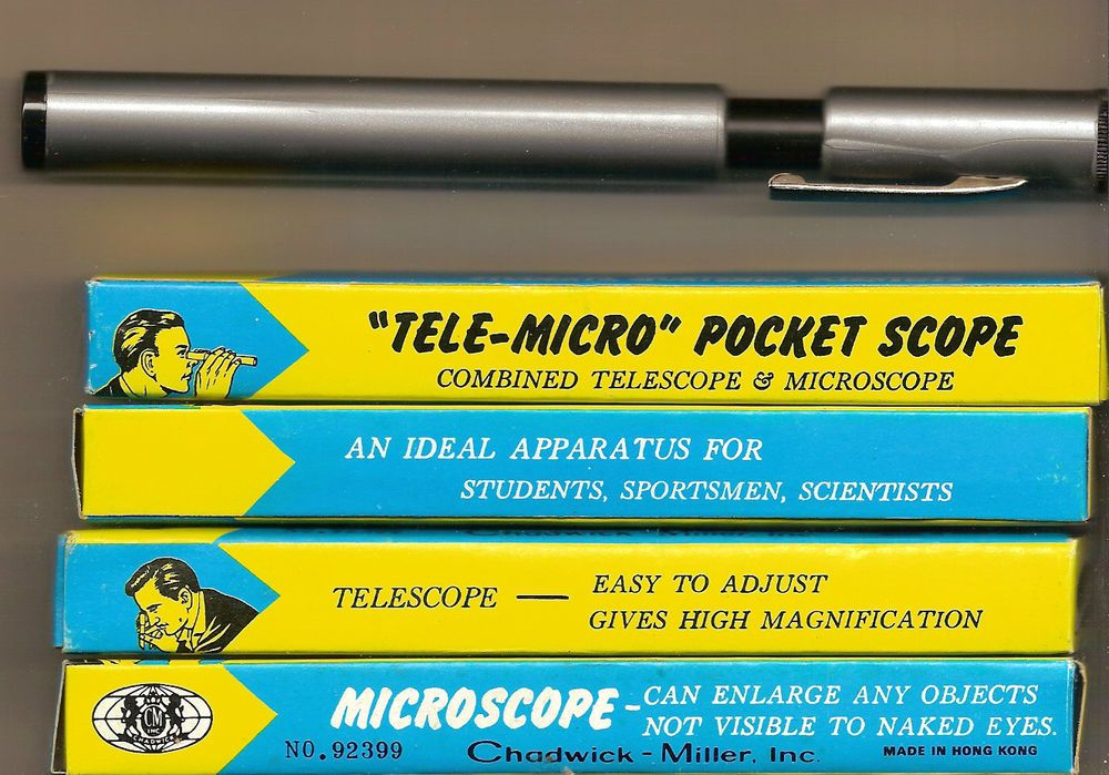 "1 CHADWICK-MILLER ""TELE-MICRO"" POCKET SCOPE HONG KONG MINT IN BOX #CHADWICKMILLER"