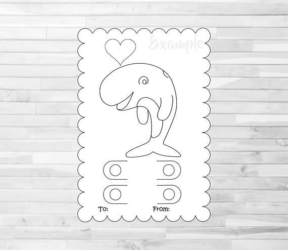 Svg Coloring Card Svg Valentine Crayon Card Template Etsy Valentines Cards Valentine Coloring Valentines For Kids