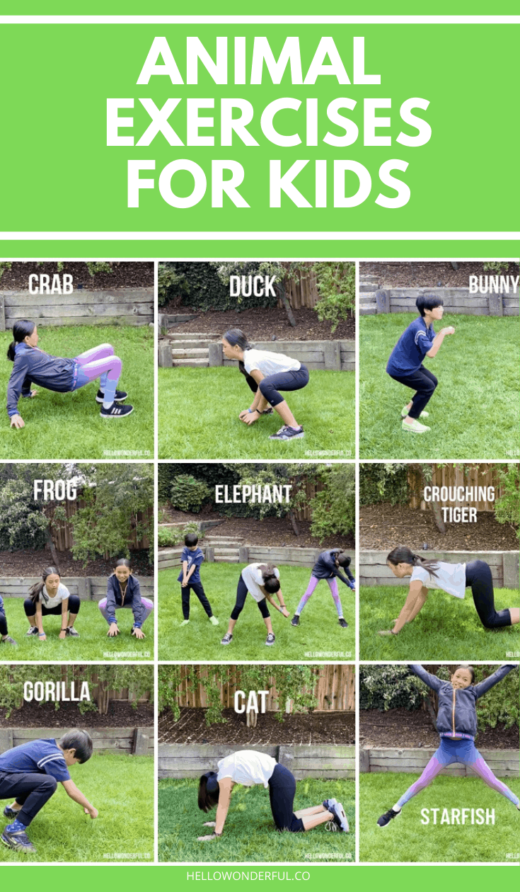 Animal Exercises For Kids