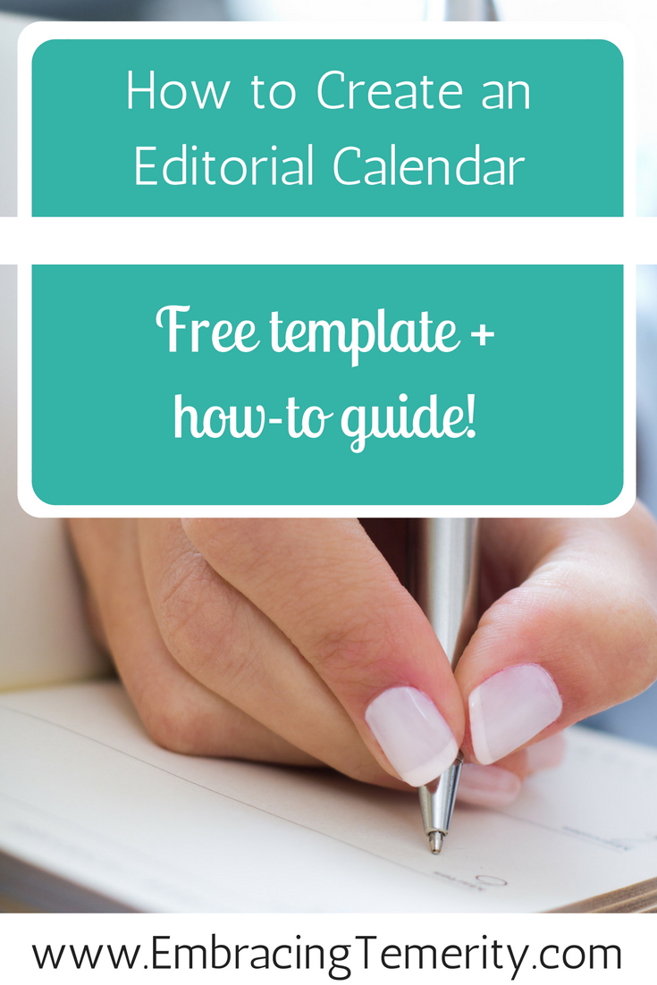 Free editorial calendar template to download plus how to create an editorial calendar guide! Stop stressing and start planning today.
