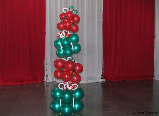 CHRISTMAS BALLOON topiary - Buscar con Google | Globos Navidad ...