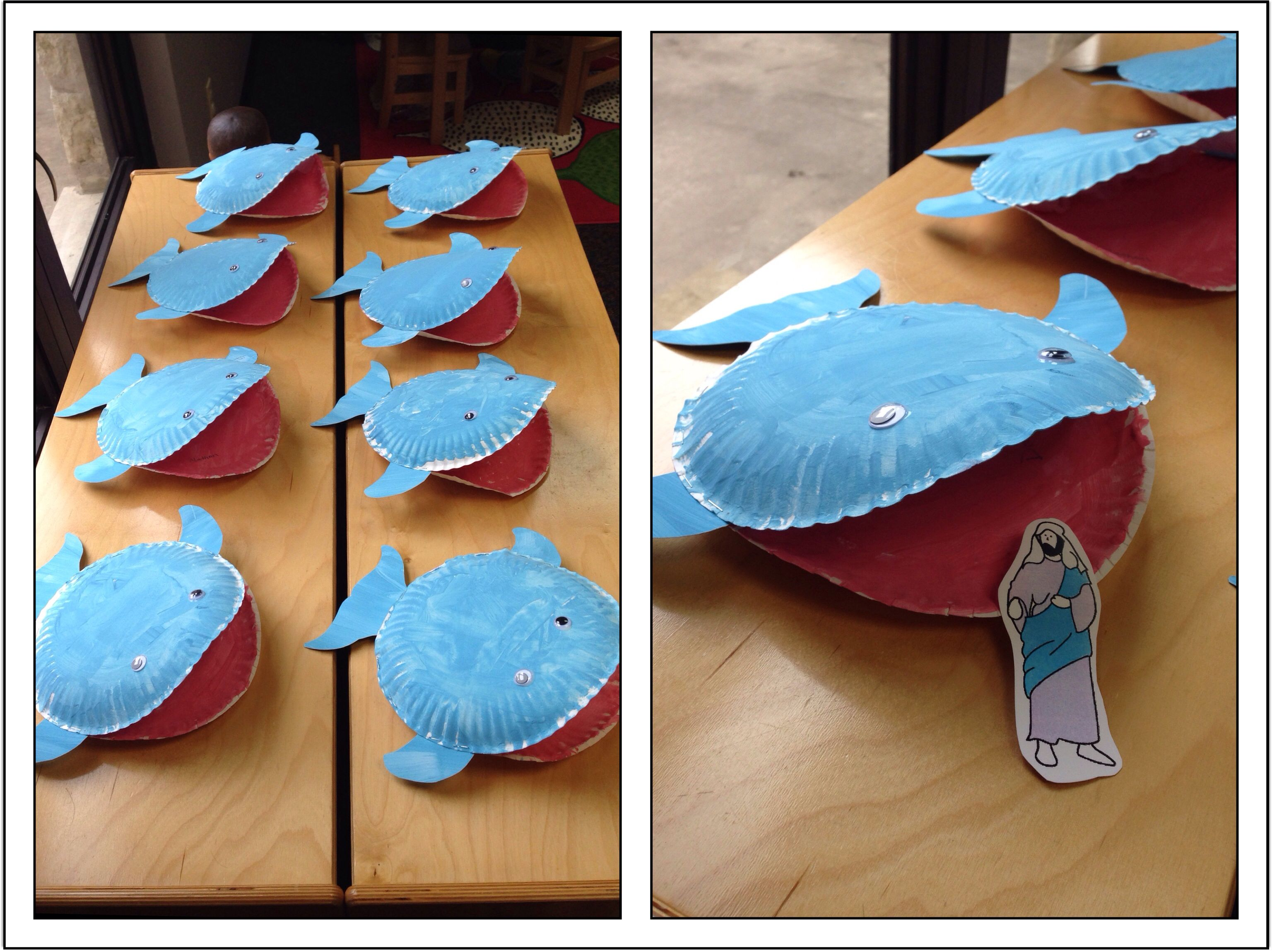 Jonah Amp The Whale Paper Plate Craft