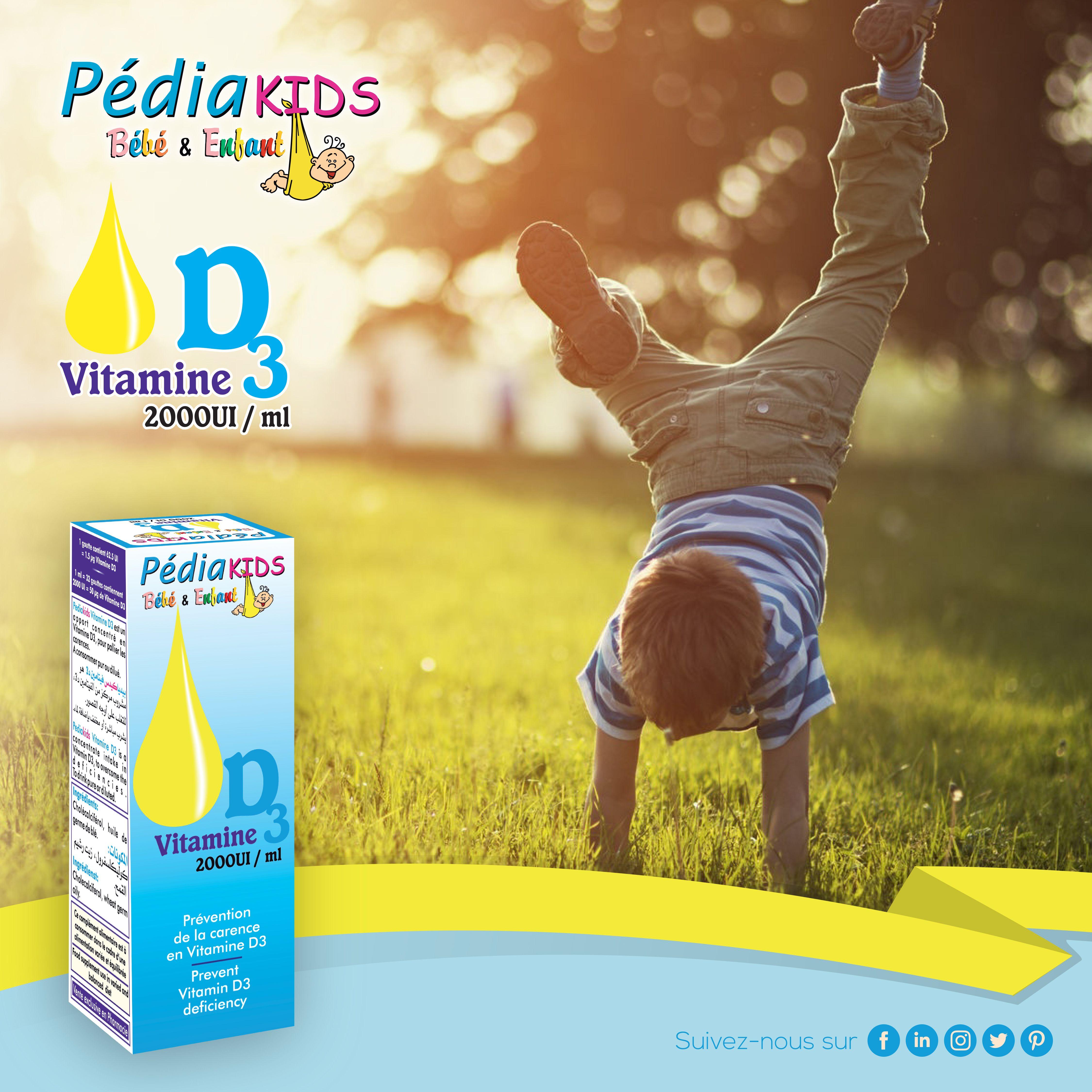 Pediakids Vitamine D3 Vitamin E