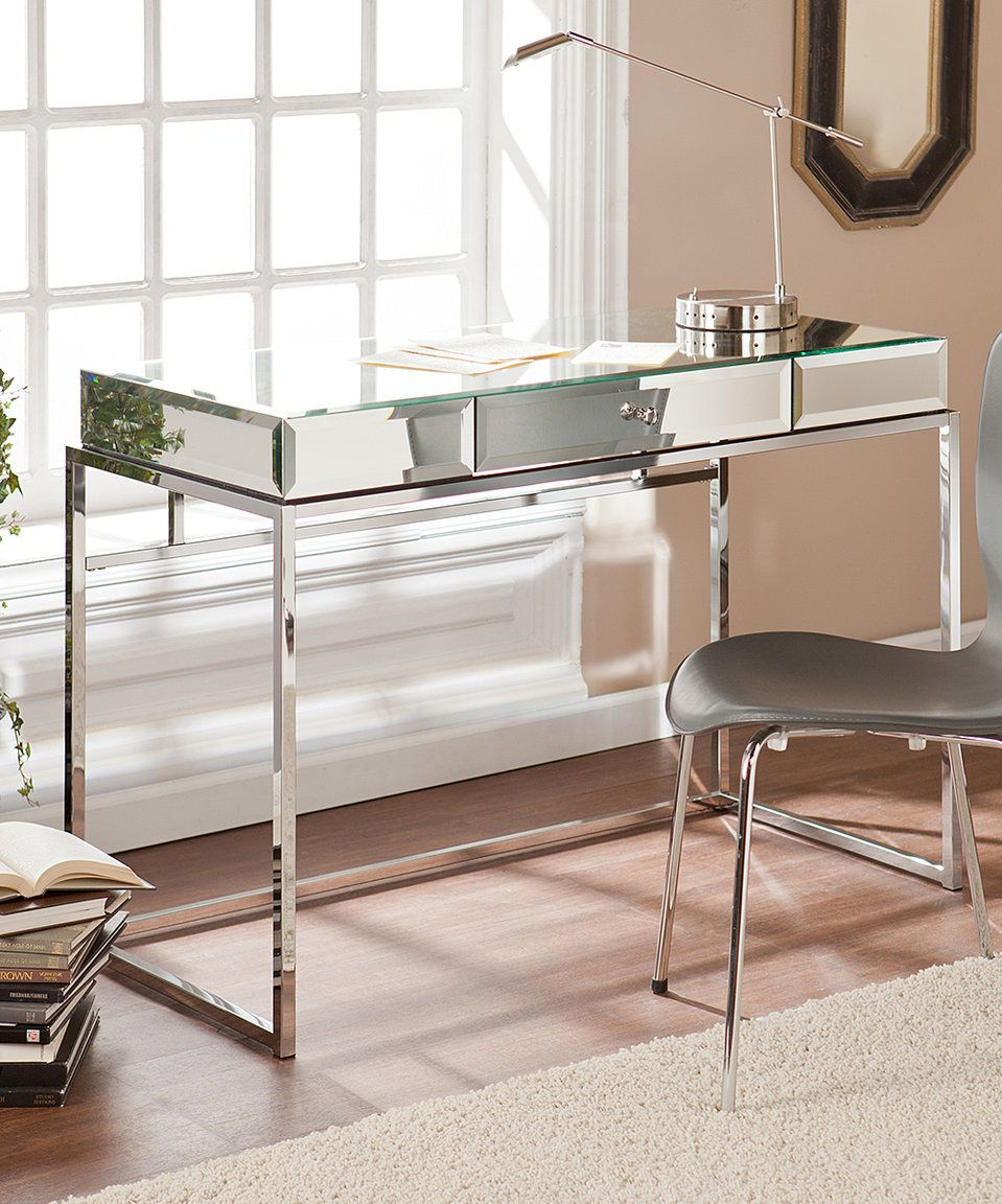 Dana Mirrored Desk Writing Desk With Drawers Desk Mirror